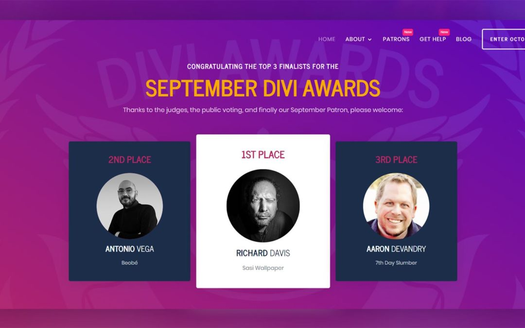 The September 2019 Divi Awards